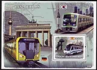 Comoro Islands 2008 Metro Trains perf s/sheet unmounted mint Michel BL438