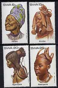 South West Africa 1982 Traditional Head-dresses #1 set of 4 unmounted mint, SG 402-05*