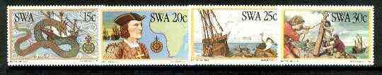 South West Africa 1982 Discoverers of South West Arica (1st Issue) set of 4 unmounted mint, SG 394-97*
