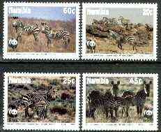 Namibia 1991 WWF - Endangered Species - Zebra set of 4 unmounted mint, SG 572-75