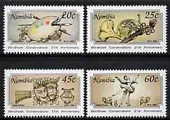 Namibia 1992 21st Anniversary of Conservatoire set of 4 unmounted mint, SG 584-87