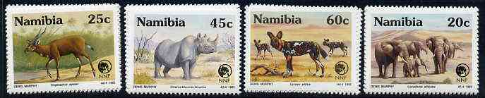 Namibia 1993 Nature Foundation - Rare Species set of 4 unmounted mint, SG 606-09