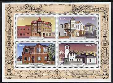 South West Africa 1981 Historic Buildings of L�deritz m/sheet unmounted mint, SG MS 385