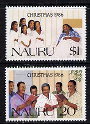 Nauru 1986 Christmas set of 2 unmounted mint SG 344-45