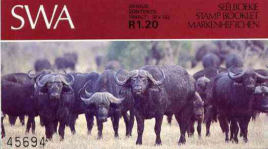 Booklet - South West Africa 1986 R1.20 booklet (Buffaloes) SG SB2