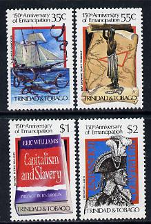 Trinidad & Tobago 1984 Slavery set of 4 unmounted mint, SG 661-64
