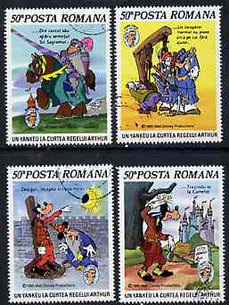 Rumania 1985 Mark Twain Anniversary set of 4 fine used, SG 4995-98, Mi 4209-12