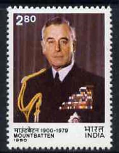 India 1980 Lord Mountbatten Commemoration unmounted mint, SG 978*