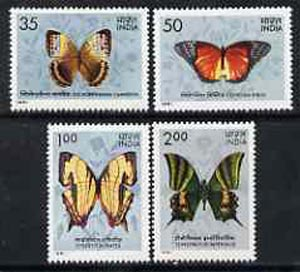 India 1981 Butterflies set of 4 unmounted mint, SG 1019-22*