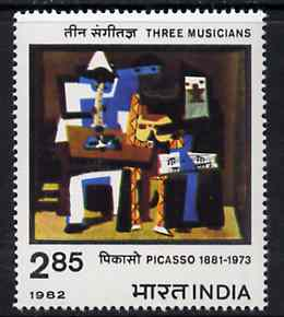 India 1982 Birth Centenary of Picasso unmounted mint, SG 1037*