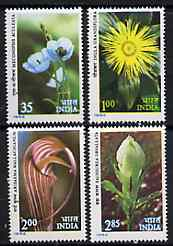 India 1982 Himilayan Flowers set of 4 unmounted mint, SG 1043-46*