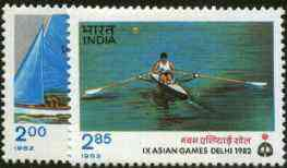 India 1982 Asian Games (7th Issue) set of 2 unmounted mint SG 1065-66*