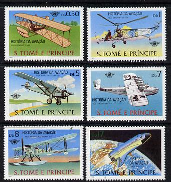 St Thomas & Prince Islands 1979 Aviation History perf set of 6 unmounted mint