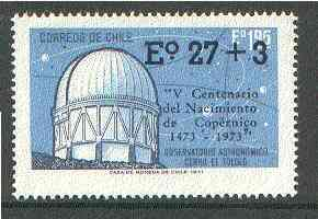 Chile 1974 Birth Anniversary of Copernicus opt on Observatory unmounted mint, SG 720*