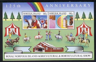 Norfolk Island 1985 Agricultural Show m/sheet unmounted mint, SG MS 373