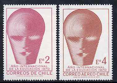 Chile 1970 International Education Year set of 2, SG 648-49 unmounted mint*
