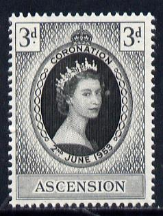 Ascension 1953 Coronation 3d unmounted mint, SG 56