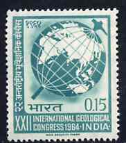 India 1964 International Geological Congress unmounted mint, SG 494*