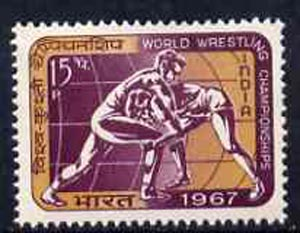 India 1967 World Wrestling Championships unmounted mint, SG 555*