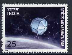India 1975 Launch of First Indian Satellite 25p unmounted mint, SG 762*