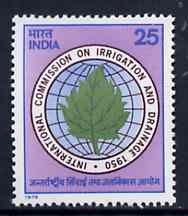 India 1975 International Commission on Irrigation unmounted mint, SG 773*