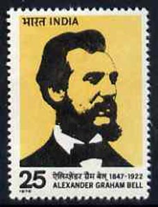 India 1976 Alexander Graham Bell Commemoration unmounted mint, SG 802*