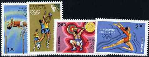 India 1984 Los Angeles Olympic Games set of 4 unmounted mint, SG 1127-30*