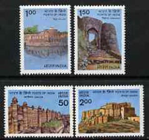 India 1984 Forts set of 4 unmounted mint, SG 1131-34*