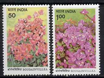 India 1985 Bougainvillea set of 2 unmounted mint, SG 1160-61*