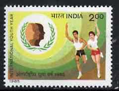 India 1985 International Youth Year unmounted mint SG 1175*, stamps on , stamps on  iyc , stamps on scouts    running    children