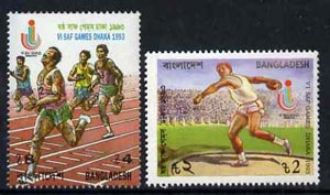 Bangladesh 1993 South Asian Federation Games set of 2 unmounted mint, SG 493-94*