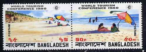 Bangladesh 1980 World Tourism Conference se-tenant horiz pair unmounted mint, SG 161a