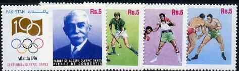 Pakistan 1996 Atlanta Olympic Games set of 4 unmounted mint SG 1002-5