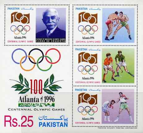Pakistan 1996 Atlanta Olympic Games m/sheet unmounted mint SG MS 1006