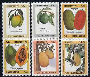 Bangladesh 1990 Fruit set of 6 unmounted mint, SG 353-58*