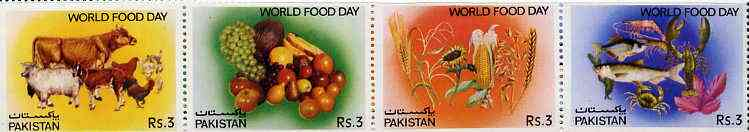 Pakistan 1983 World Food Day strip of 4 unmounted mint, SG 608a