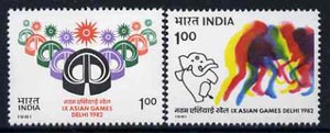 India 1981 Asian Games (1st Issue) set of 2 unmounted mint, SG 1012-13*