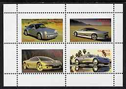 Kalmikia Republic 1997 Cars perf sheetlet containing complete set of 4 unmounted mint