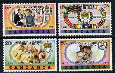 Tanzania 1978 Coronation 25th Anniversary set of 4 (large opt) SG 233-6A unmounted mint