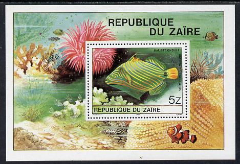 Zaire 1980 Tropical Fish m/sheet unmounted mint, SG MS 1025