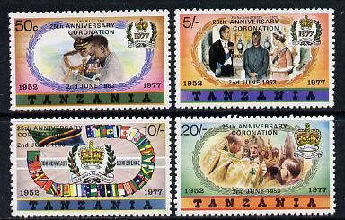Tanzania 1978 Coronation 25th Anniversary set of 4 (small opt) SG 233-6B unmounted mint