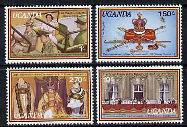 Uganda 1979 Coronation 25th Anniversary set of 4 unmounted mint, SG 234-37