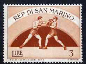 San Marino 1954 Boxing 3L from Sport set of 11 unmounted mint, SG 476*