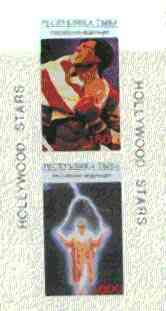 Touva 1995 Hollywood Stars #2 imperf m/sheet containing 2 values (S Stallone & Jack Nicholson) unmounted mint