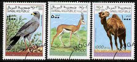 Somalia 1999 African Fauna set of 3 (Camel, Gosgawk & Springbok) fine cto used