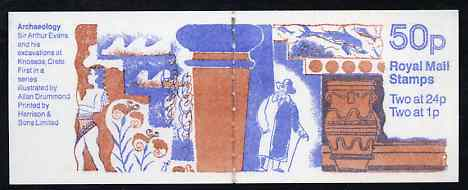 Booklet - Great Britain 1991 Archaeology Series 50p booklet complete, SG FB59