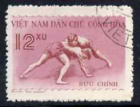 Vietnam - North 1959 Wrestling 12x fine cto used from Sports set of 3, SG N115*