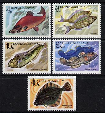 Russia 1983 Fish set of 5 unmounted mint, SG 5347-51, Mi 5294-98