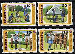 Dominica 1979 50th Anniversary of Girl Guides set of 4 unmounted mint, SG  672-75*