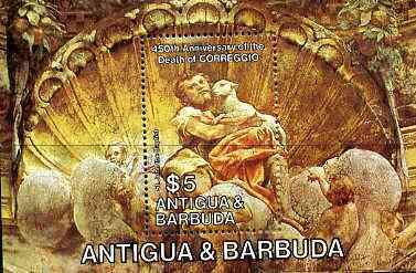Antigua 1984 Death Anniversary of Correggio m/sheet (John the Baptist) unmounted mint SG MS 882